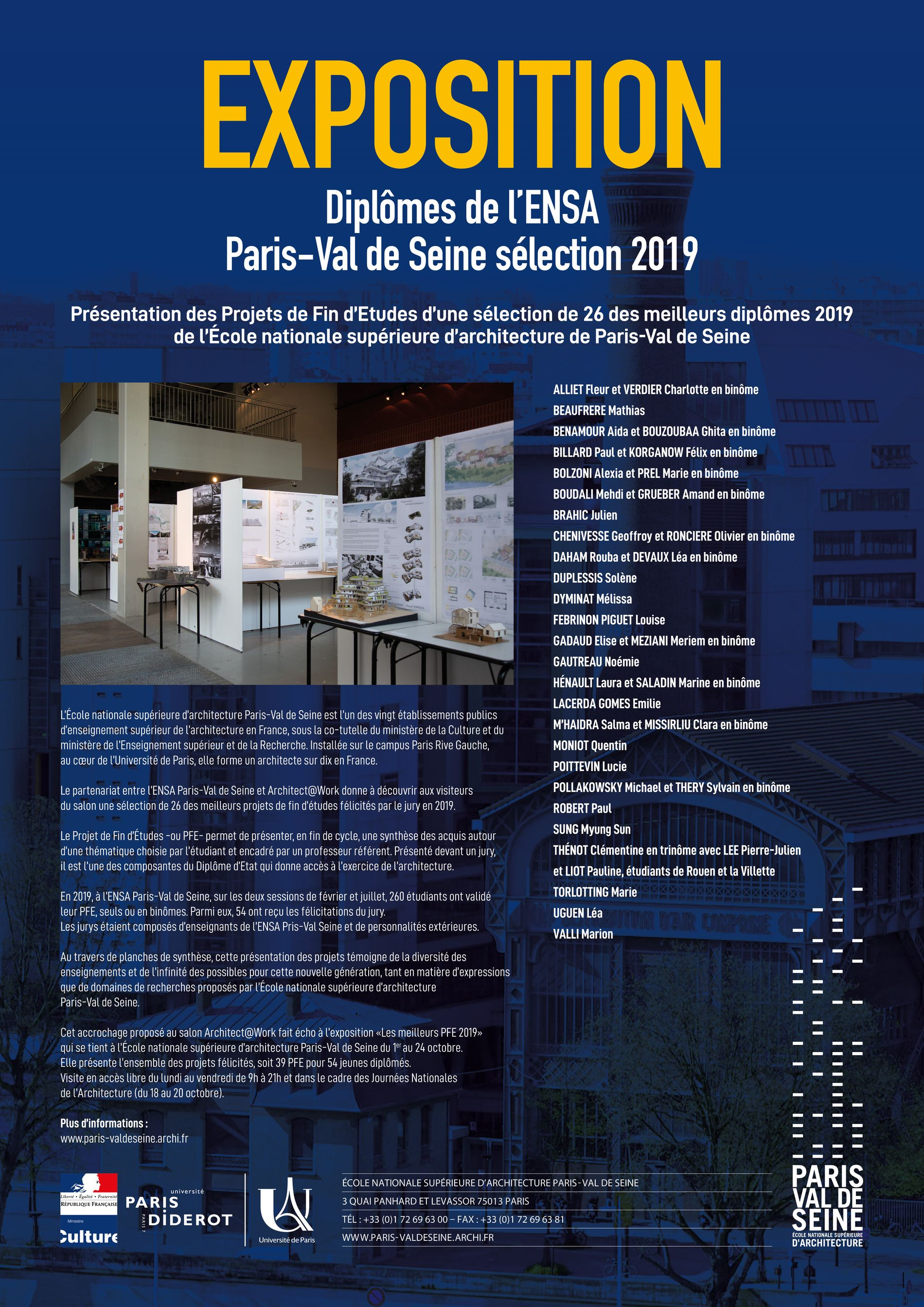 Ensa Paris Val De Seine l'ensa paris-val de seine expose au salon architect@work