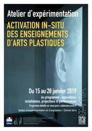 affiche exposition art plastiques