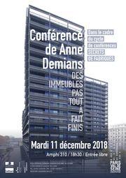 Affiche conférence Anne Demians architecte